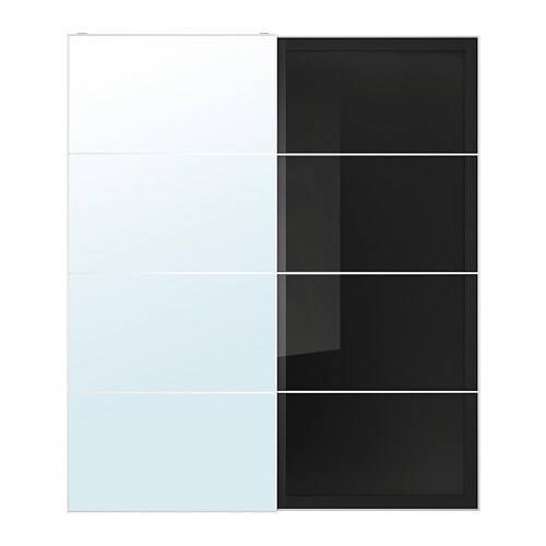 Auli Uggdal Pair Of Sliding Doors Mirror Glass Grey Glass