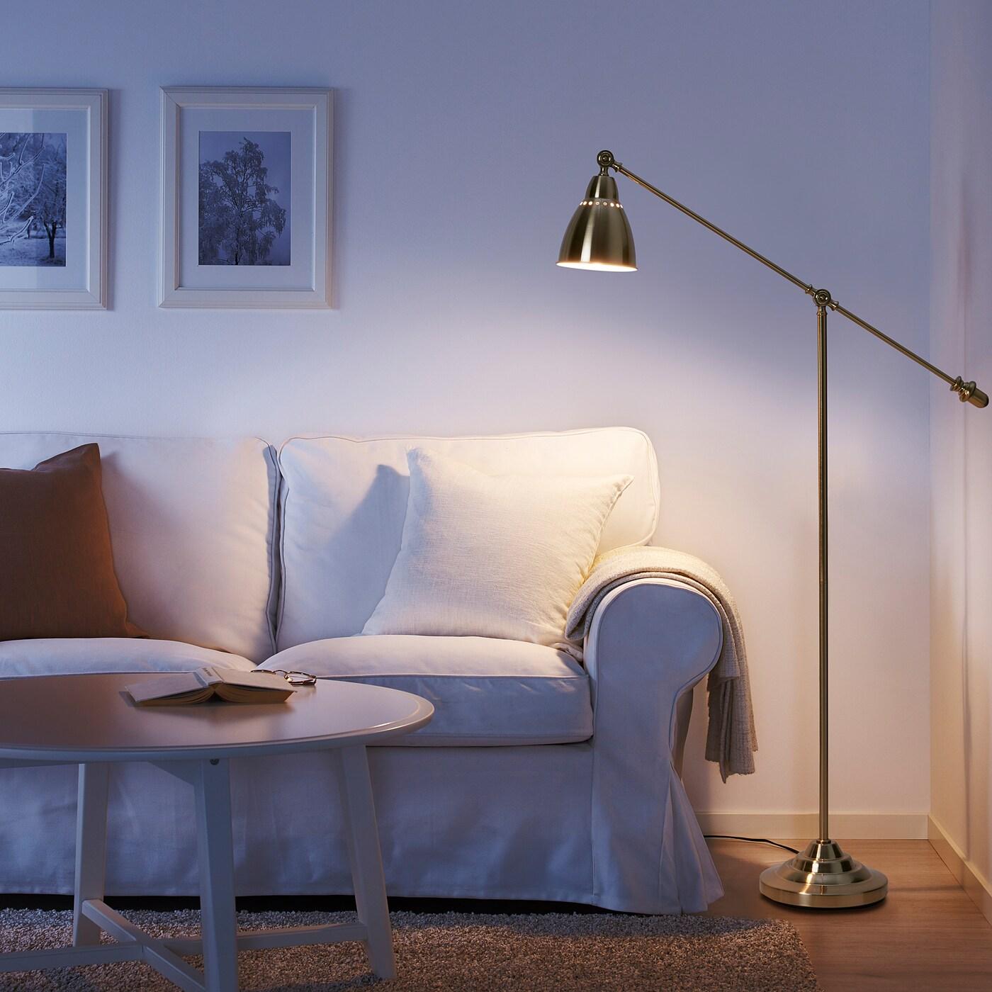 Barometer Floor Reading Lamp Brass Colour Ikea