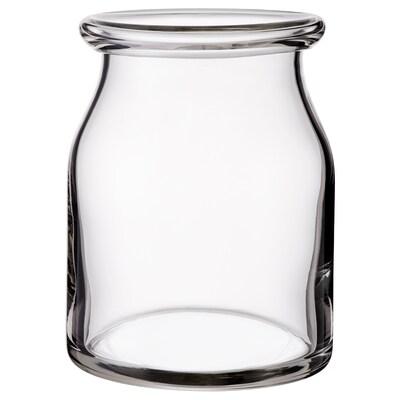 BEGÄRLIG Vase, clear glass, 18 cm