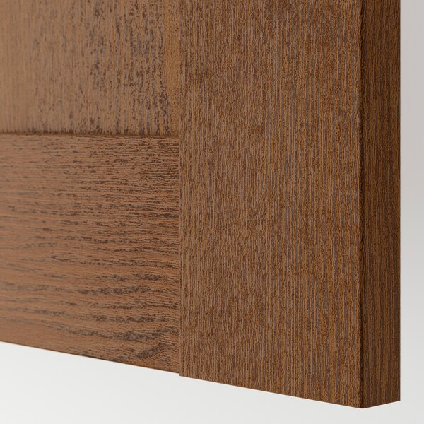 BERGSBO Door, brown stained ash effect, 50x195 cm