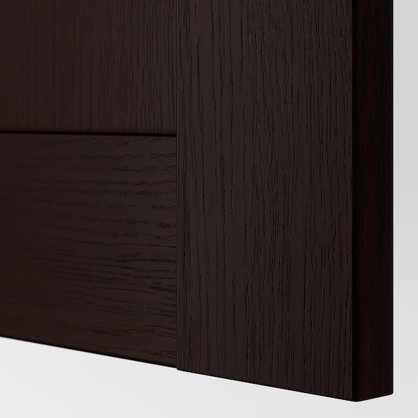 BERGSBO Door with hinges, black-brown, 50x229 cm