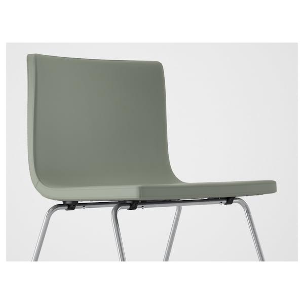 BERNHARD Chair, chrome-plated/Mjuk green