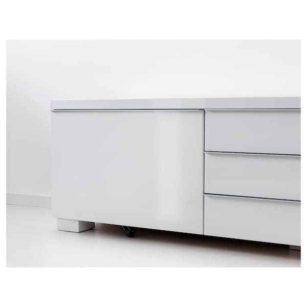 Besta Tv Meubel Ophangen.Besta Burs Tv Bench High Gloss White Ikea