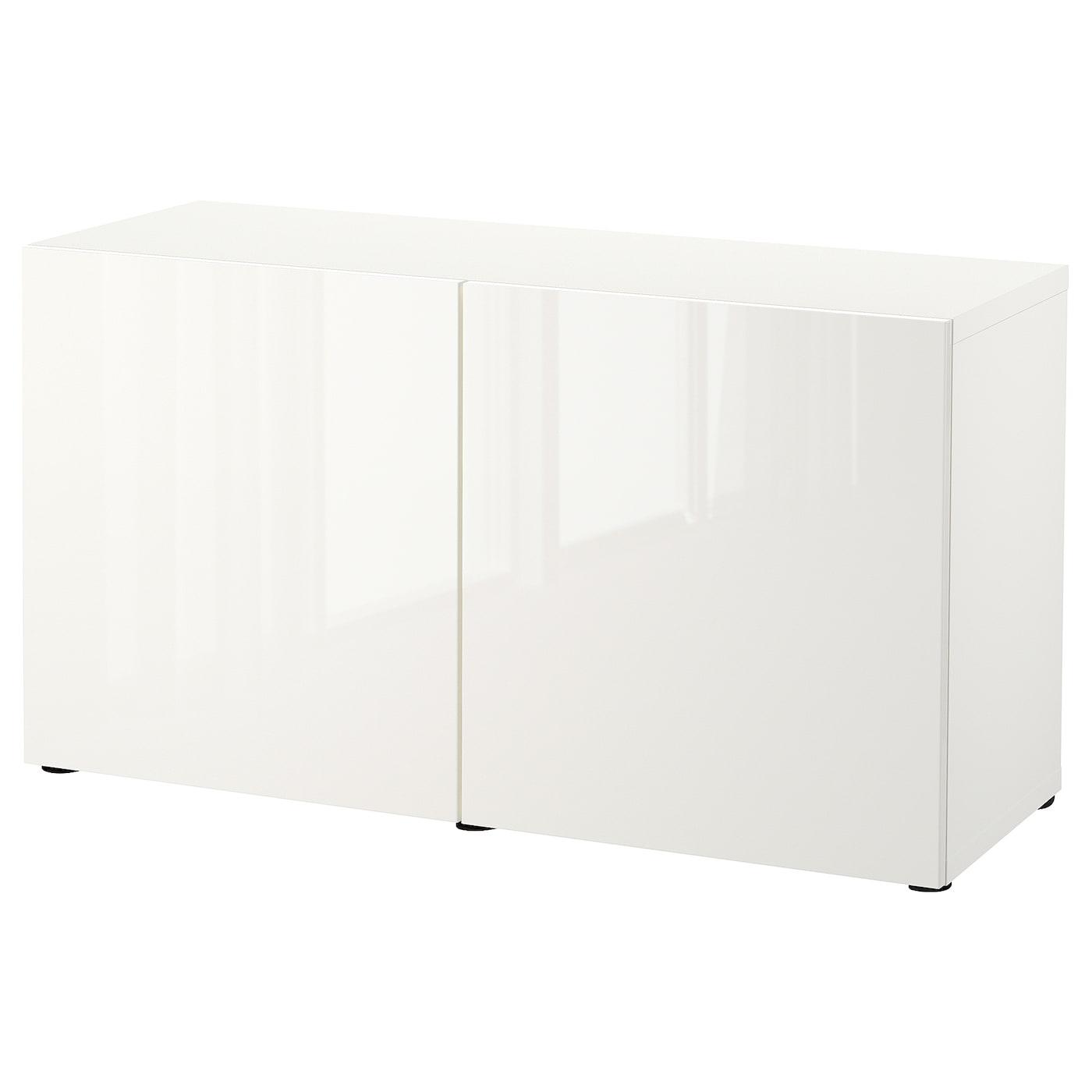 BESTÅ Storage combination with doors whiteSelsviken high