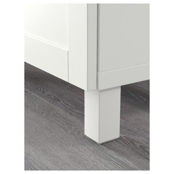 BESTÅ storage combination with drawers white/Hanviken white 180 cm 40 cm 74 cm