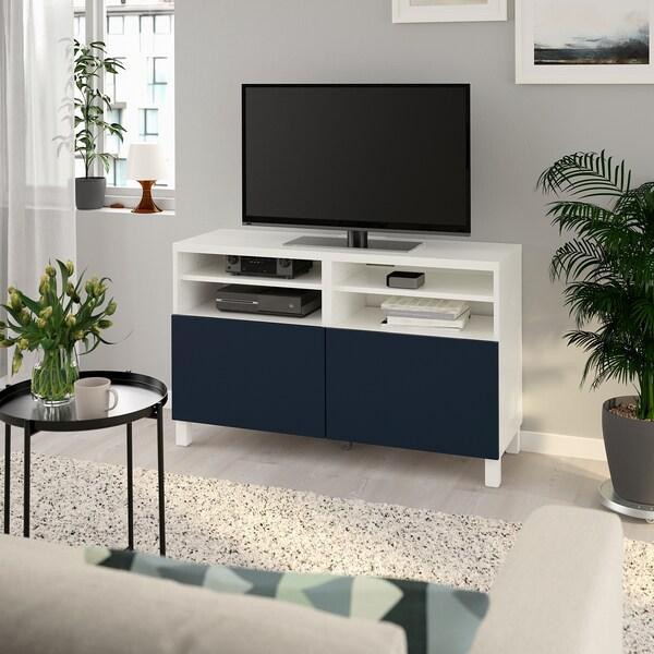 Bestå Tv Bench With Doors White Notviken Stubbarp Blue Ikea
