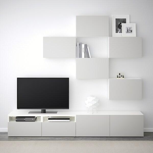 Ikea Tv Kast Grijs.Besta Tv Storage Combination White Lappviken Light Grey Ikea