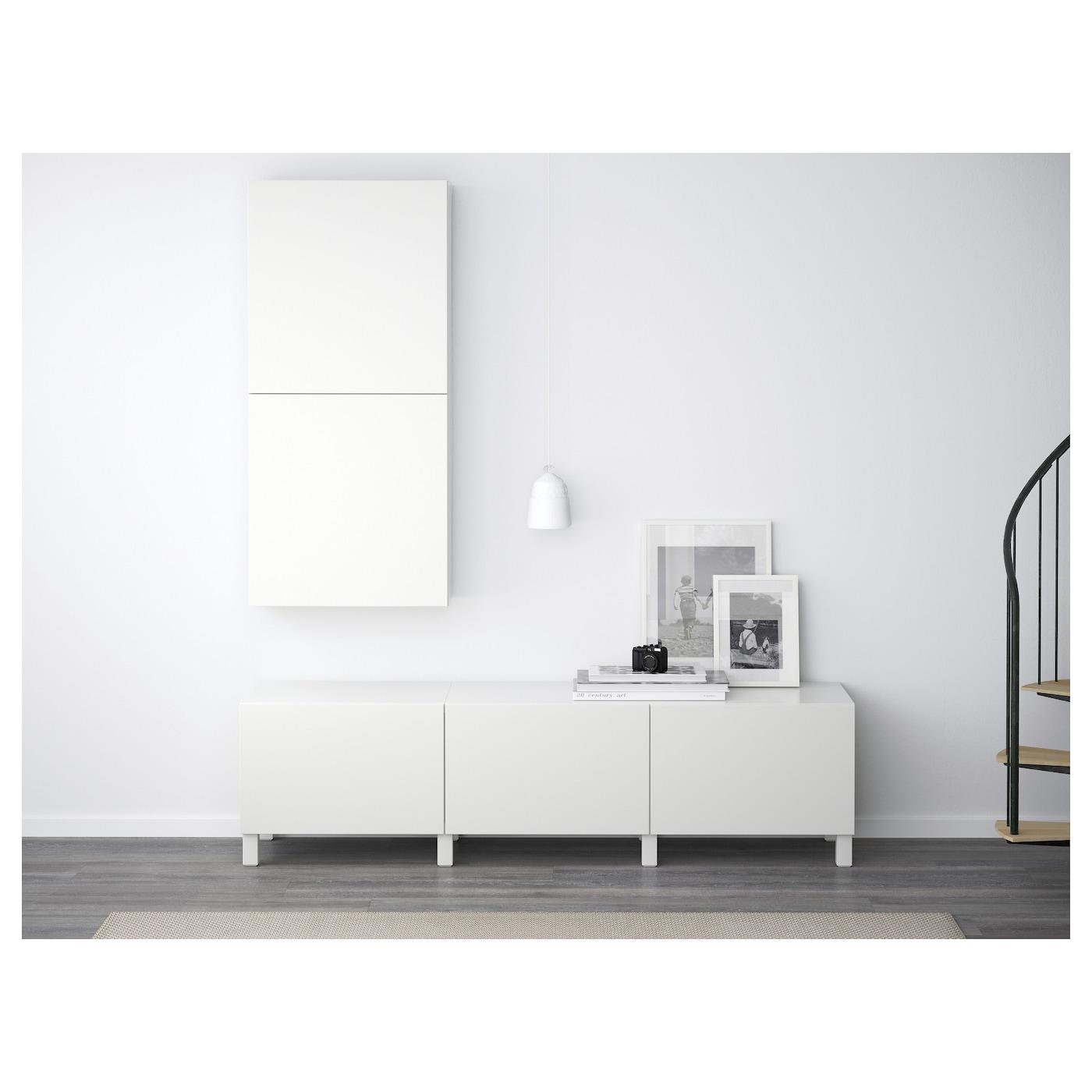 Ikea Tv Meubel Bovenkast.Besta Wall Cabinet With 2 Doors Lappviken White Ikea