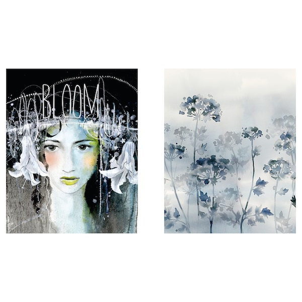 BILD Poster, Midnight Bloom, 40x50 cm