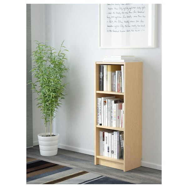 BILLY Bookcase, birch veneer, 40x28x106 cm