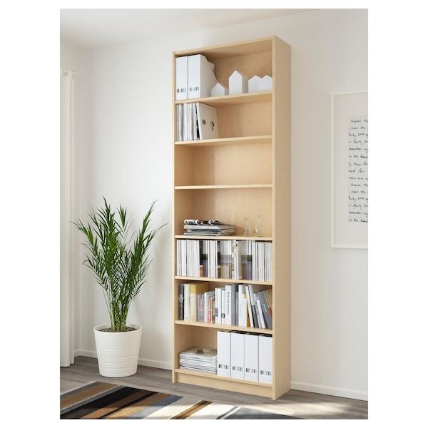 BILLY Bookcase, birch veneer, 80x28x237 cm