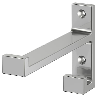 BJÄRNUM Hook, aluminium, 9 cm
