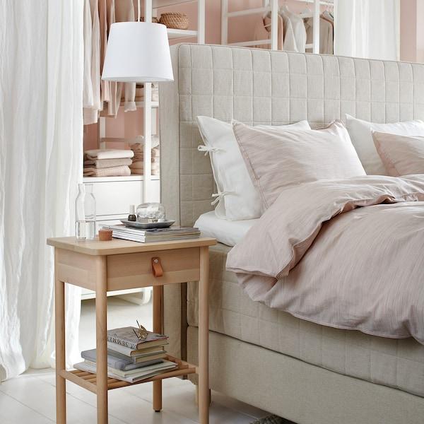 BJÖRKSNÄS Bedside table, birch, 48x38 cm
