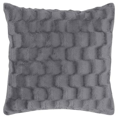 BLÅREGN Cushion cover, grey/check, 50x50 cm