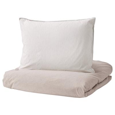 BLÅVINDA quilt cover and 2 pillowcases beige 200 /inch² 2 pack 220 cm 240 cm 60 cm 70 cm