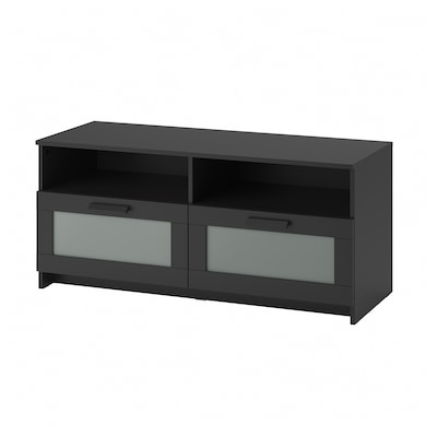 BRIMNES TV bench, black, 120x41x53 cm