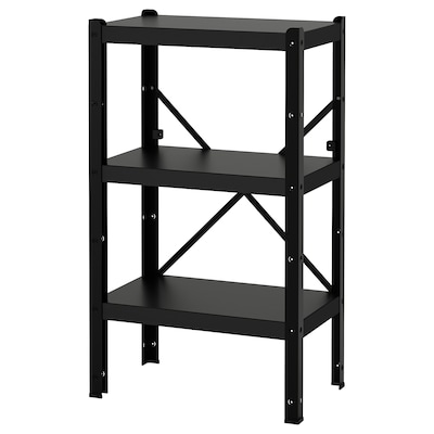 BROR Shelving unit, black, 65x40x110 cm