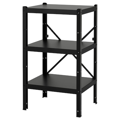 BROR Shelving unit, black, 65x55x110 cm