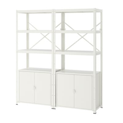 BROR shelving unit with cabinets white 170 cm 40 cm 190 cm