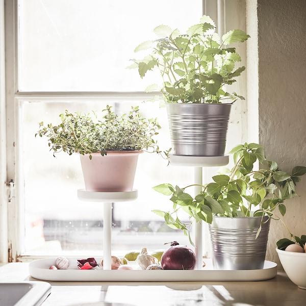 CHILISTRÅN Plant stand, white, 24 cm
