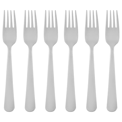 DRAGON salad/dessert fork stainless steel 16 cm 6 pack