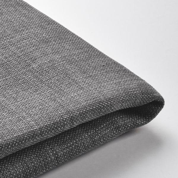 DUNVIK Cover divan bed, Skiftebo dark grey, 140x200 cm