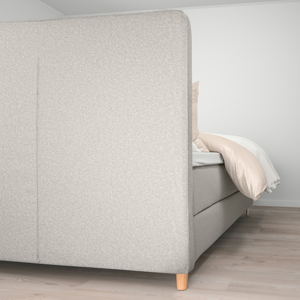 DUNVIK Divan bed, Hövåg medium firm/Tuddal Gunnared beige, 140x200 cm
