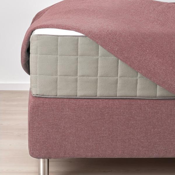 DUNVIK Divan bed, Hövåg medium firm/Tustna Gunnared light brown-pink, 180x200 cm