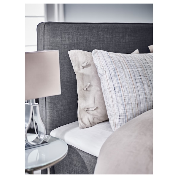 DUNVIK divan bed Hyllestad firm/medium firm/Tustna dark grey 210 cm 180 cm 120 cm 200 cm 180 cm