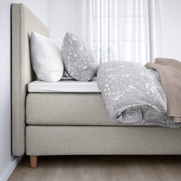 DUNVIK divan bed Hövåg medium firm/Tuddal Gunnared beige 210 cm 160 cm 120 cm 200 cm 160 cm
