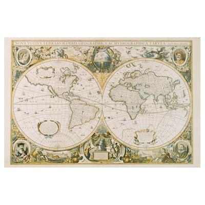 EDELVIK poster vintage world map 61 cm 91 cm