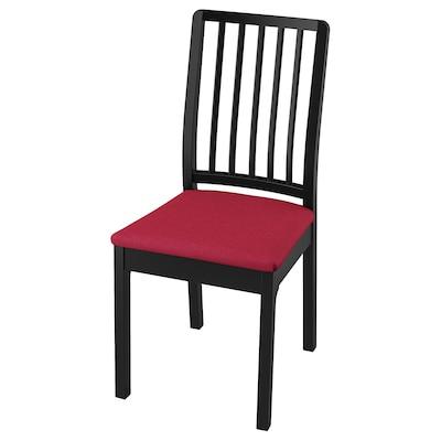 EKEDALEN Chair, black/Orrsta red