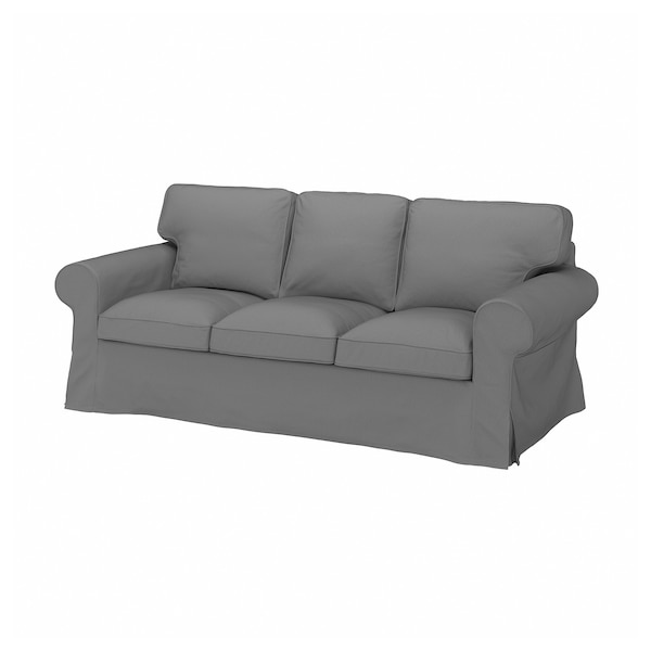 EKTORP Cover for 3-seat sofa, Remmarn light grey