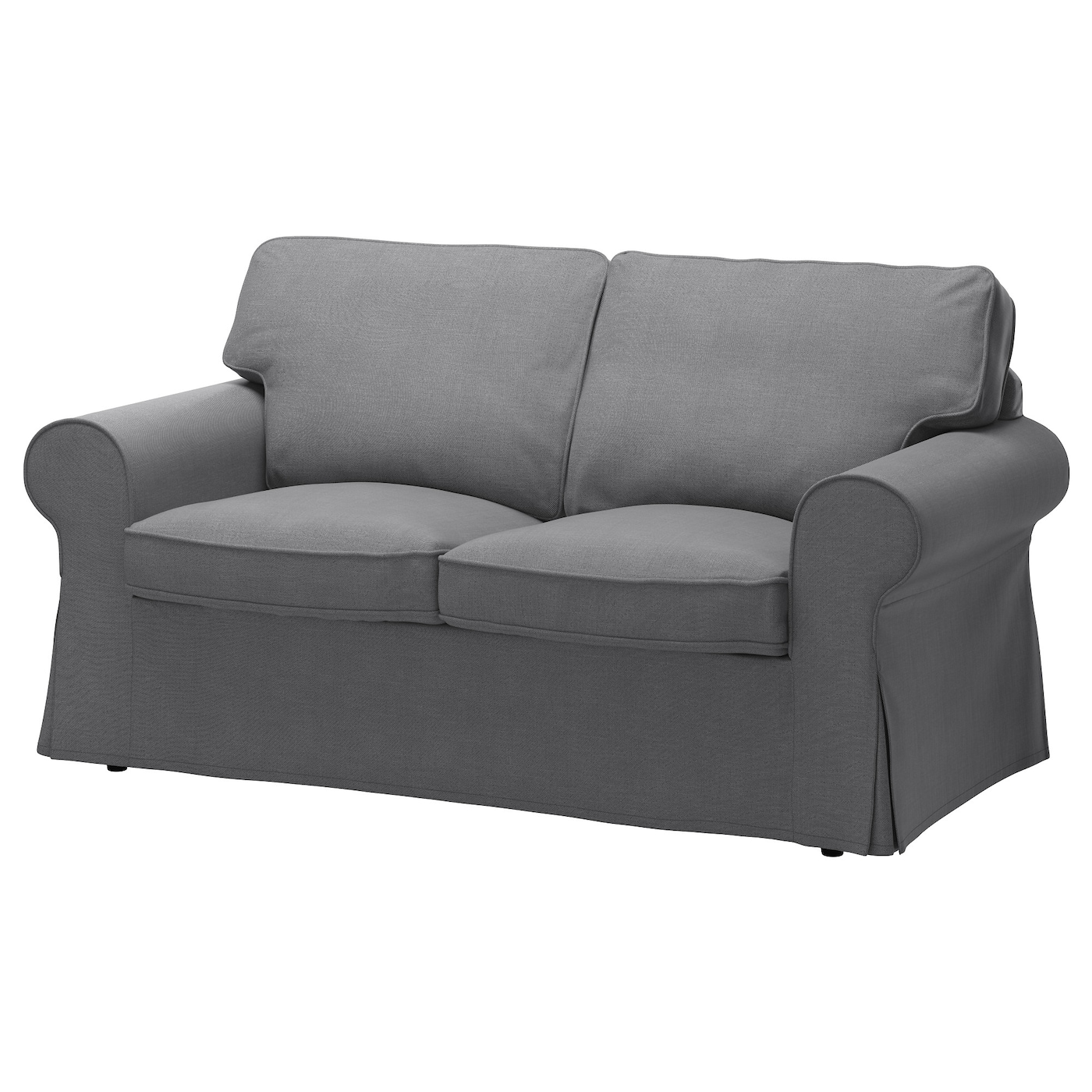 Bankhoes Ikea Bank.Ektorp Cover Two Seat Sofa Nordvalla Dark Grey Ikea
