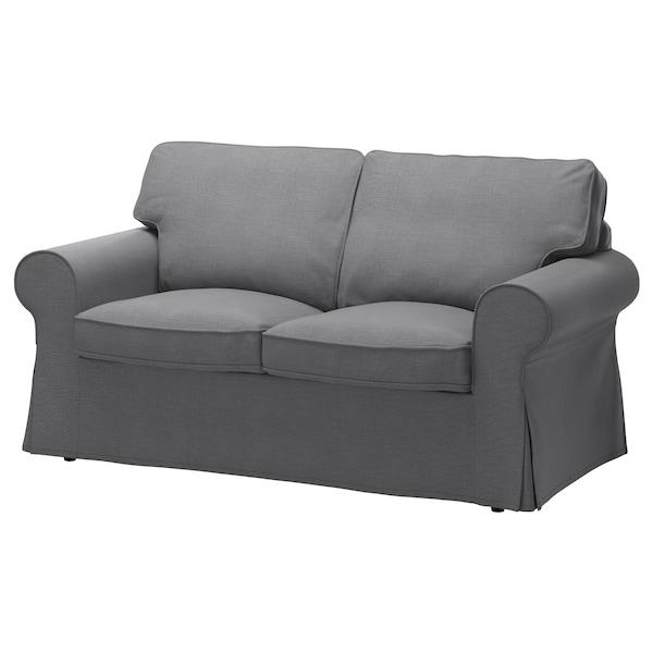 Bankhoes 3 Zits.Ektorp Cover Two Seat Sofa Nordvalla Dark Grey Ikea
