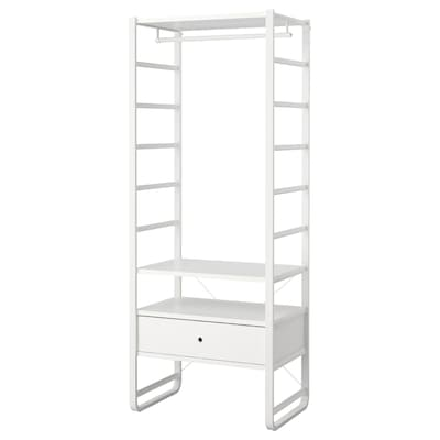 ELVARLI 1 section white 84.4 cm 55.0 cm 216.0 cm
