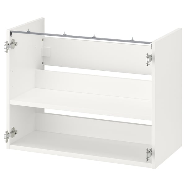 ENHET Base cb f washbasin w shelf, white, 80x40x60 cm