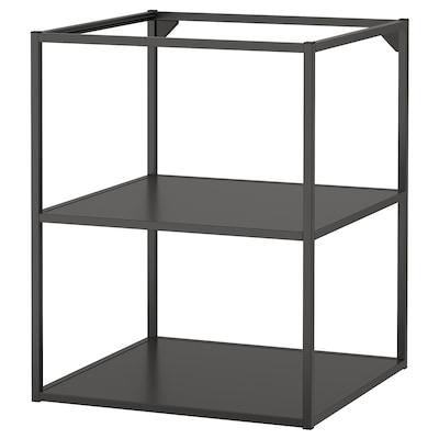 ENHET Base fr w shelves, anthracite, 60x60x75 cm