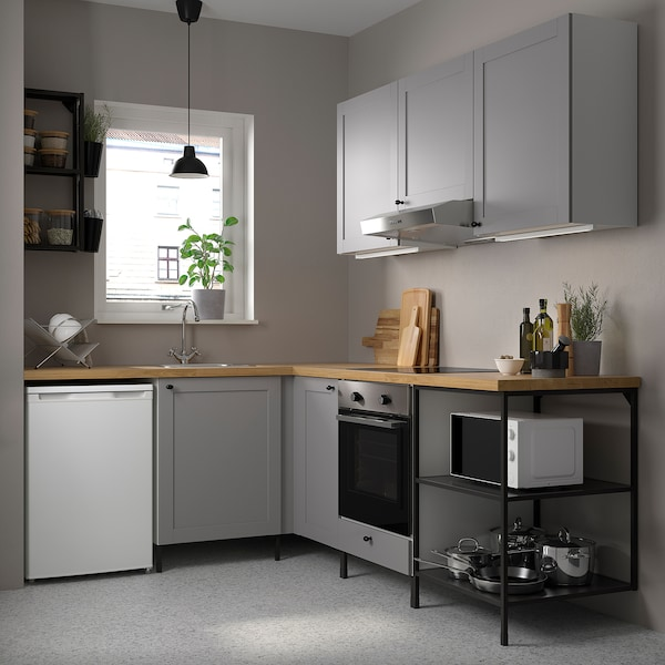 Enhet Corner Kitchen Anthracite Grey Frame Ikea