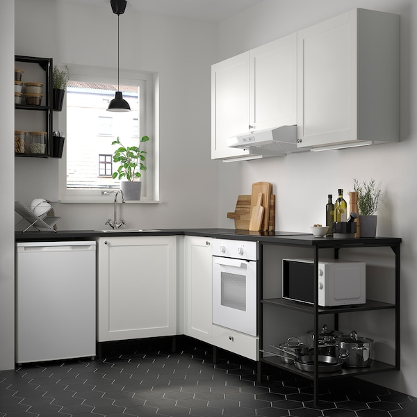 Enhet Corner Kitchen Anthracite White Frame Ikea