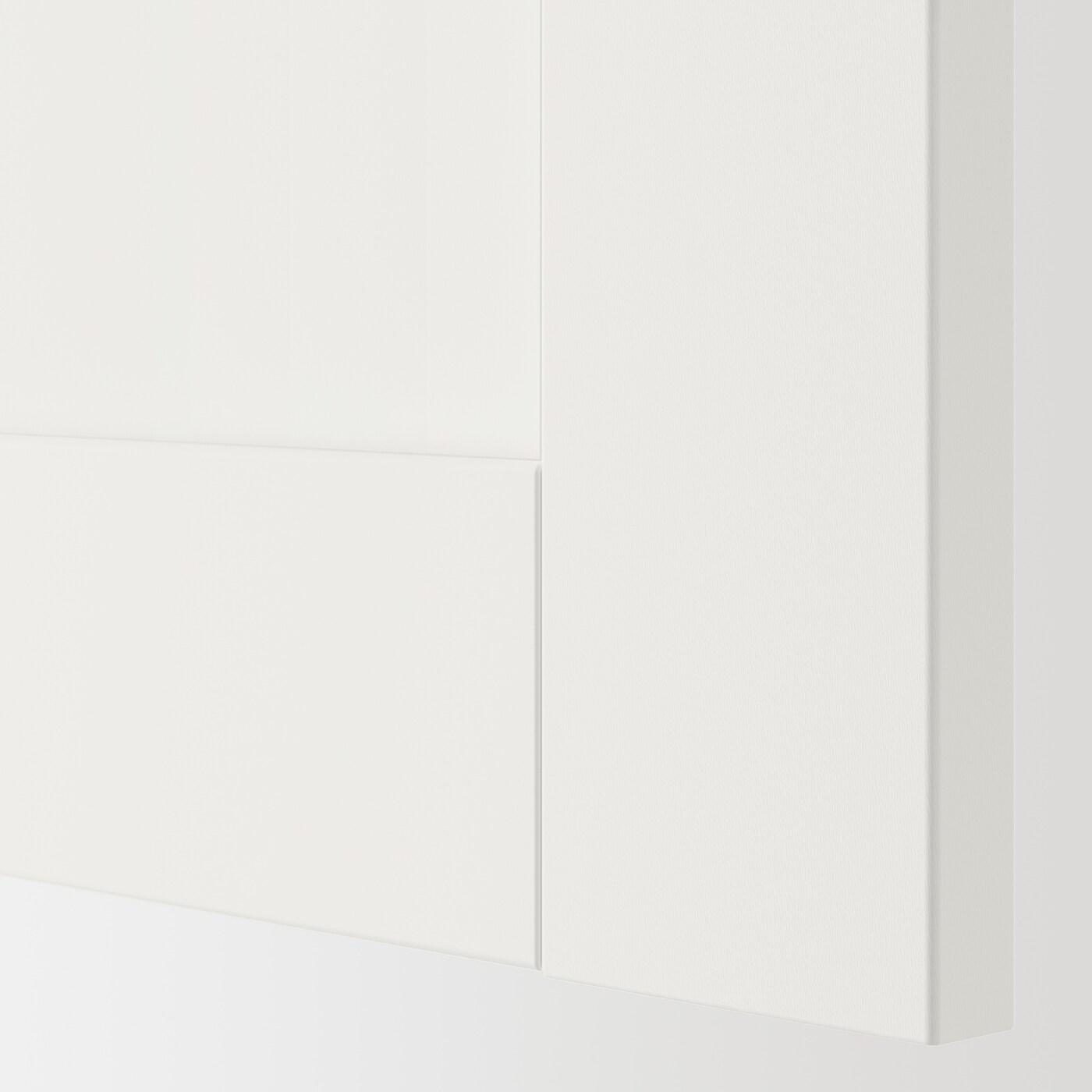 ENHET Door, white frame, 30x180 cm