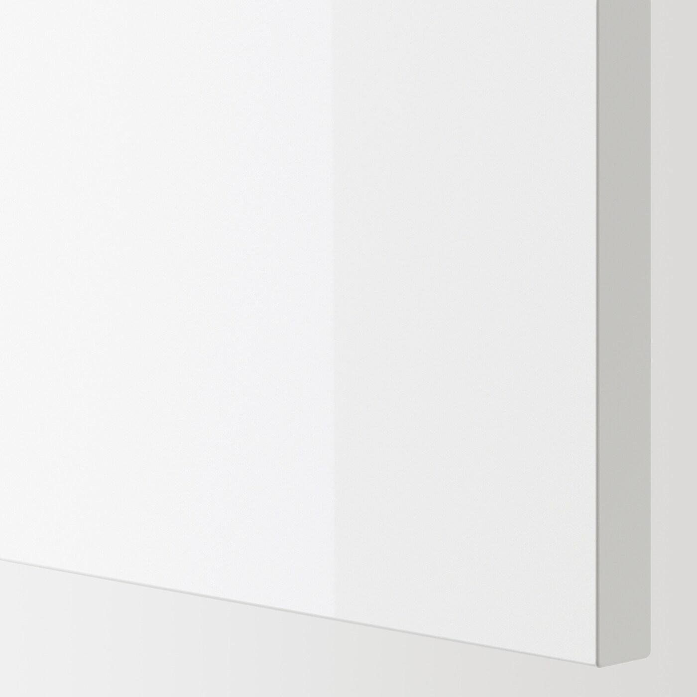ENHET Drawer front for base cb f oven, high-gloss white, 60x14 cm