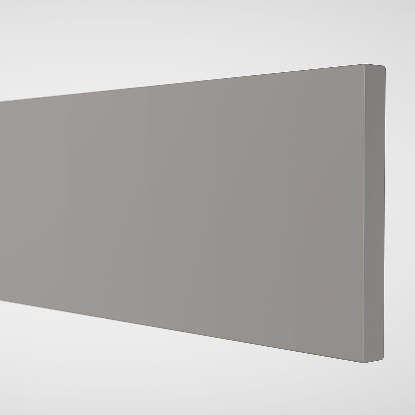 ENHET Drawer front, grey, 60x15 cm