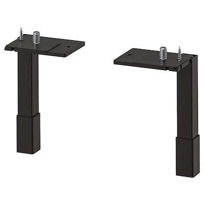 ENHET Legs f cabinet, anthracite, 12.5 cm