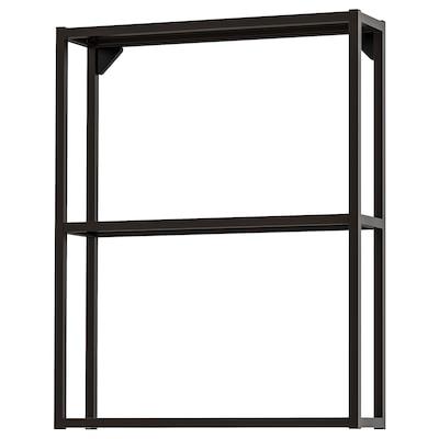 ENHET Wall fr w shelves, anthracite, 60x15x75 cm