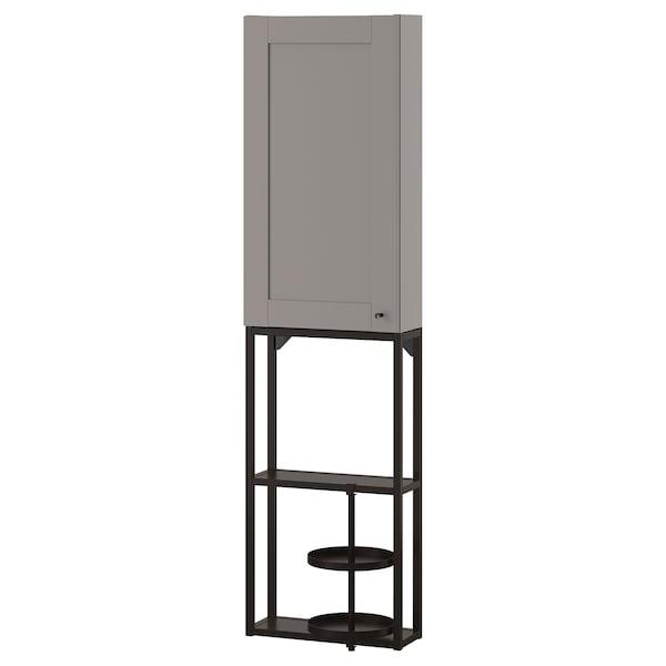 ENHET Wall storage combination, anthracite/grey frame, 40x17x150 cm