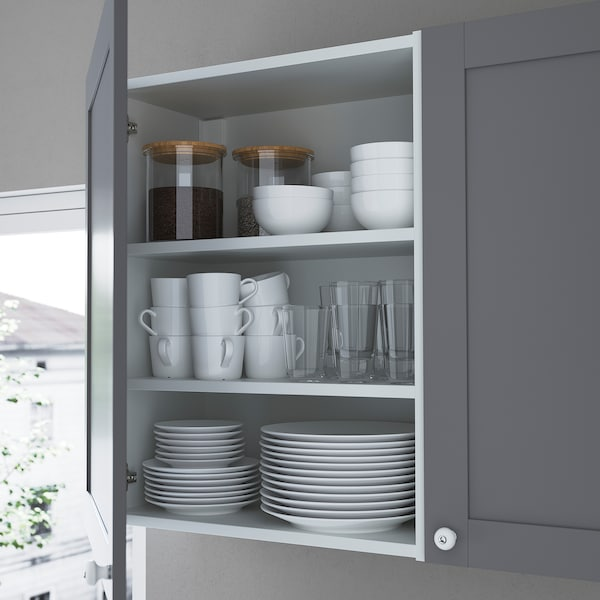 ENHET Wall storage combination, anthracite/grey frame, 120x32x225 cm