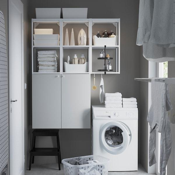 ENHET Wall storage combination, white, 120x32x150 cm