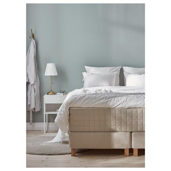 ESPEVÄR divan bed Hidrasund medium firm/Tistedal natural 200 cm 70 cm 200 cm 160 cm