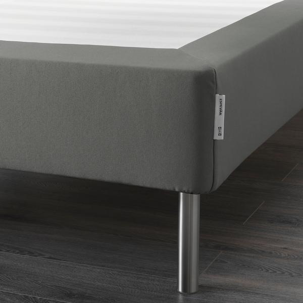 ESPEVÄR Slatted mattress base with legs, dark grey, 140x200 cm